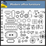 Modern office furniture - CAD Design | Download CAD Drawings | AutoCAD Blocks | AutoCAD Symbols | CAD Drawings | Architecture Details│Landscape Details | See more about AutoCAD, Cad Drawing and Architecture Details
