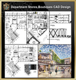 ★【Shopping Centers, Department Stores,Boutiques CAD Design Drawings V.2】@Boutiques, clothing stores, women's wear, men's wear, store design-Autocad Blocks,Drawings,CAD Details,Elevation