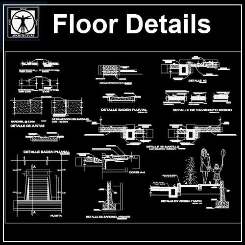 Floor Details - CAD Design | Download CAD Drawings | AutoCAD Blocks | AutoCAD Symbols | CAD Drawings | Architecture Details│Landscape Details | See more about AutoCAD, Cad Drawing and Architecture Details
