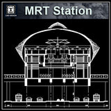 MRT Station Cad Drawings 1 - CAD Design | Download CAD Drawings | AutoCAD Blocks | AutoCAD Symbols | CAD Drawings | Architecture Details│Landscape Details | See more about AutoCAD, Cad Drawing and Architecture Details