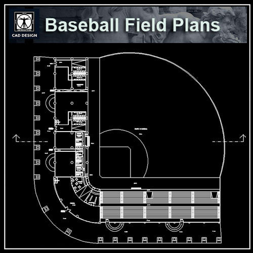 Baseball Field Plans - CAD Design | Download CAD Drawings | AutoCAD Blocks | AutoCAD Symbols | CAD Drawings | Architecture Details│Landscape Details | See more about AutoCAD, Cad Drawing and Architecture Details
