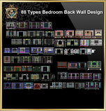 88 Types of Bedroom Back Wall Design CAD Drawings - CAD Design | Download CAD Drawings | AutoCAD Blocks | AutoCAD Symbols | CAD Drawings | Architecture Details│Landscape Details | See more about AutoCAD, Cad Drawing and Architecture Details