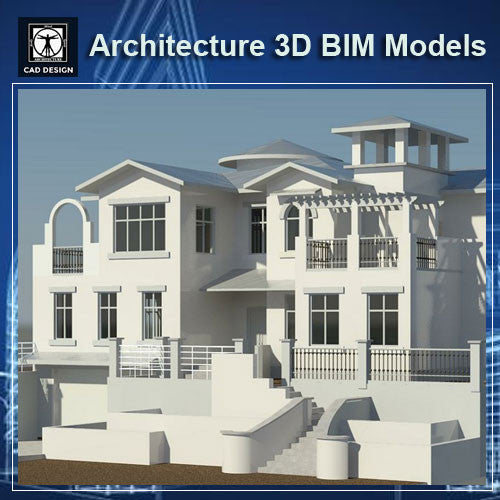 Architecture BIM 3D Models-Villa - CAD Design | Download CAD Drawings | AutoCAD Blocks | AutoCAD Symbols | CAD Drawings | Architecture Details│Landscape Details | See more about AutoCAD, Cad Drawing and Architecture Details