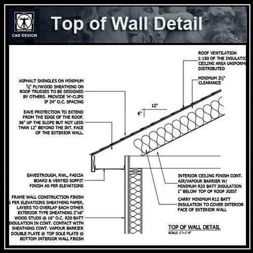 Free CAD Details-Top of Wall Detail