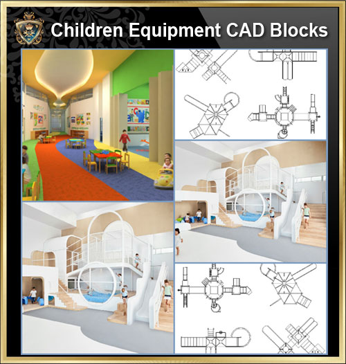 ★【Kids Playground Equipment CAD Blocks】@ CAD Blocks,Autocad Blocks,Drawings,CAD Details-Playground Equipment | Playgrounds, Playground Sets