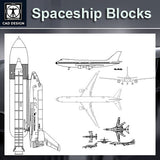 Spaceship and airplane Blocks
