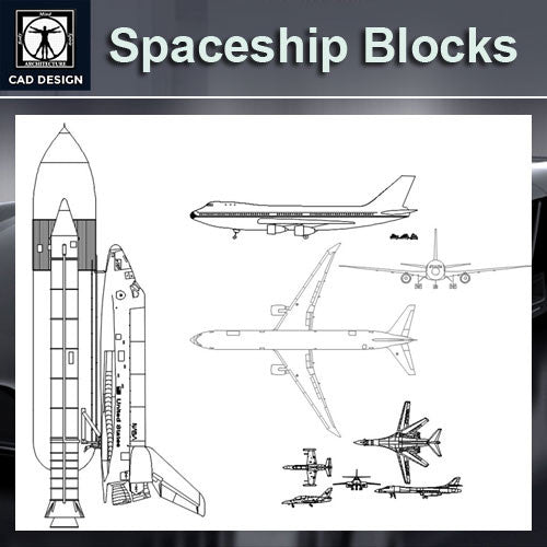 Spaceship and airplane Blocks - CAD Design | Download CAD Drawings | AutoCAD Blocks | AutoCAD Symbols | CAD Drawings | Architecture Details│Landscape Details | See more about AutoCAD, Cad Drawing and Architecture Details