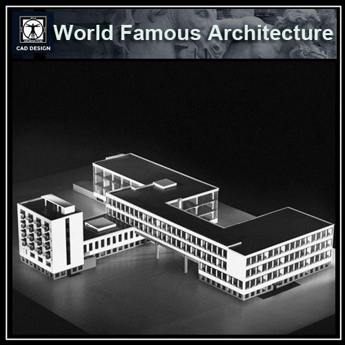 Bauhaus - CAD Design | Download CAD Drawings | AutoCAD Blocks | AutoCAD Symbols | CAD Drawings | Architecture Details│Landscape Details | See more about AutoCAD, Cad Drawing and Architecture Details