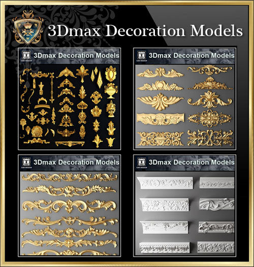 【All 3D Max Decoration Models Bundle】(Best Recommanded!!) - CAD Design | Download CAD Drawings | AutoCAD Blocks | AutoCAD Symbols | CAD Drawings | Architecture Details│Landscape Details | See more about AutoCAD, Cad Drawing and Architecture Details