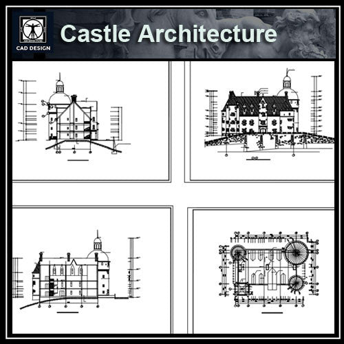Castle Cad Drawings--Plans,elevation,details - CAD Design | Download CAD Drawings | AutoCAD Blocks | AutoCAD Symbols | CAD Drawings | Architecture Details│Landscape Details | See more about AutoCAD, Cad Drawing and Architecture Details