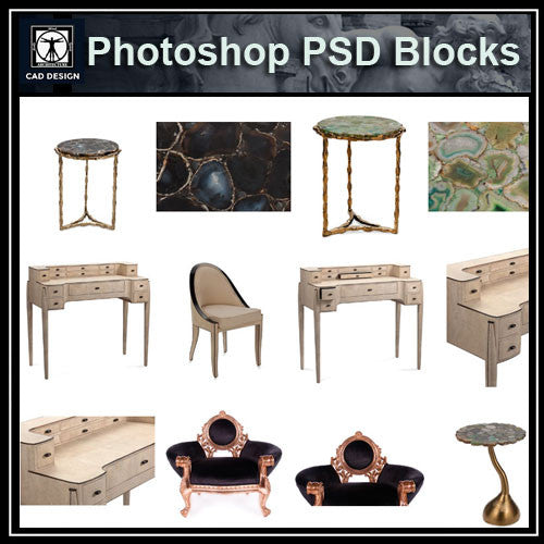 Photoshop PSD Luxury Furniture Blocks - CAD Design | Download CAD Drawings | AutoCAD Blocks | AutoCAD Symbols | CAD Drawings | Architecture Details│Landscape Details | See more about AutoCAD, Cad Drawing and Architecture Details