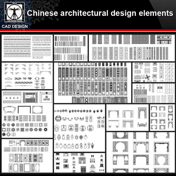 ★【Chinese Architecture Design CAD elements V2】All kinds of Chinese Architectural CAD Drawings Bundle - CAD Design | Download CAD Drawings | AutoCAD Blocks | AutoCAD Symbols | CAD Drawings | Architecture Details│Landscape Details | See more about AutoCAD, Cad Drawing and Architecture Details