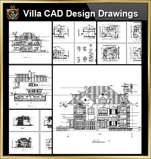 ★【Villa CAD Design,Details Project V.10】Chateau,Manor,Mansion,Villa@Autocad Blocks,Drawings,CAD Details,Elevation - CAD Design | Download CAD Drawings | AutoCAD Blocks | AutoCAD Symbols | CAD Drawings | Architecture Details│Landscape Details | See more about AutoCAD, Cad Drawing and Architecture Details
