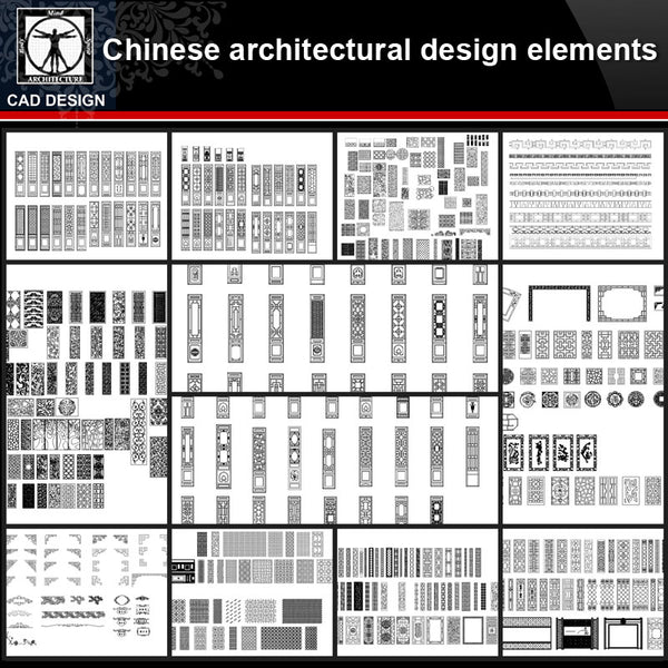 ★【Chinese Architecture Design CAD elements V3】All kinds of Chinese Architectural CAD Drawings Bundle - CAD Design | Download CAD Drawings | AutoCAD Blocks | AutoCAD Symbols | CAD Drawings | Architecture Details│Landscape Details | See more about AutoCAD, Cad Drawing and Architecture Details