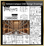 ★【School, University, College,Campus, Teaching equipment, research lab, laboratory CAD Design Elements V.2】@Autocad Blocks,Drawings,CAD Details,Elevation