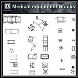 Free Medical equipment blocks - CAD Design | Download CAD Drawings | AutoCAD Blocks | AutoCAD Symbols | CAD Drawings | Architecture Details│Landscape Details | See more about AutoCAD, Cad Drawing and Architecture Details