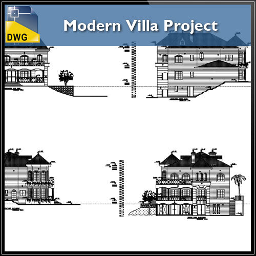 Modern Villa Project - CAD Design | Download CAD Drawings | AutoCAD Blocks | AutoCAD Symbols | CAD Drawings | Architecture Details│Landscape Details | See more about AutoCAD, Cad Drawing and Architecture Details