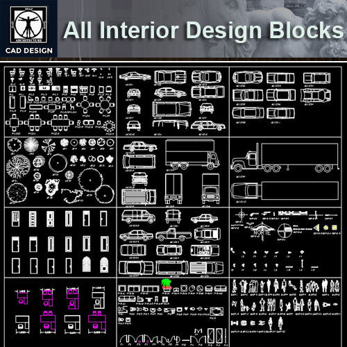 All Interior Design Blocks 6 - CAD Design | Download CAD Drawings | AutoCAD Blocks | AutoCAD Symbols | CAD Drawings | Architecture Details│Landscape Details | See more about AutoCAD, Cad Drawing and Architecture Details