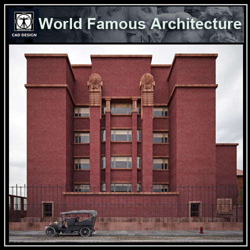Larkin building-franklloydwright - CAD Design | Download CAD Drawings | AutoCAD Blocks | AutoCAD Symbols | CAD Drawings | Architecture Details│Landscape Details | See more about AutoCAD, Cad Drawing and Architecture Details