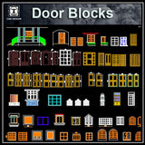 Door design blocks 2 - CAD Design | Download CAD Drawings | AutoCAD Blocks | AutoCAD Symbols | CAD Drawings | Architecture Details│Landscape Details | See more about AutoCAD, Cad Drawing and Architecture Details