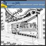 Recovery and rehabilitation center design drawing - CAD Design | Download CAD Drawings | AutoCAD Blocks | AutoCAD Symbols | CAD Drawings | Architecture Details│Landscape Details | See more about AutoCAD, Cad Drawing and Architecture Details