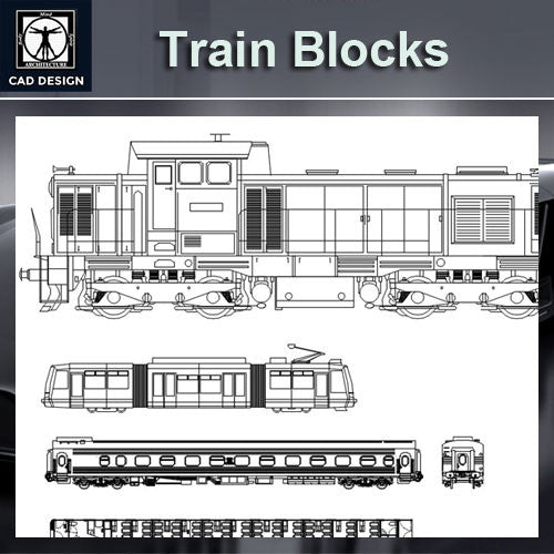 Train Blocks - CAD Design | Download CAD Drawings | AutoCAD Blocks | AutoCAD Symbols | CAD Drawings | Architecture Details│Landscape Details | See more about AutoCAD, Cad Drawing and Architecture Details