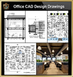 ★【Office, Commercial building, mixed business building CAD Design Project V.11】@Autocad Blocks,Drawings,CAD Details,Elevation