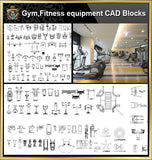 ★【All Gym,Fitness equipment CAD Blocks Bundle-Stadium,Gymnasium, playground, sports hall】@Gem CAD Blocks,Autocad Blocks,Drawings,CAD Details - CAD Design | Download CAD Drawings | AutoCAD Blocks | AutoCAD Symbols | CAD Drawings | Architecture Details│Landscape Details | See more about AutoCAD, Cad Drawing and Architecture Details