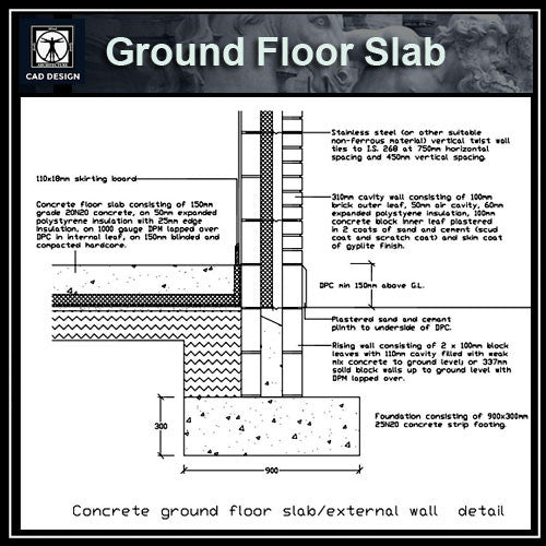Free CAD Details-Ground Floor Slab