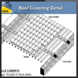 Roof Covering Detail - CAD Design | Download CAD Drawings | AutoCAD Blocks | AutoCAD Symbols | CAD Drawings | Architecture Details│Landscape Details | See more about AutoCAD, Cad Drawing and Architecture Details