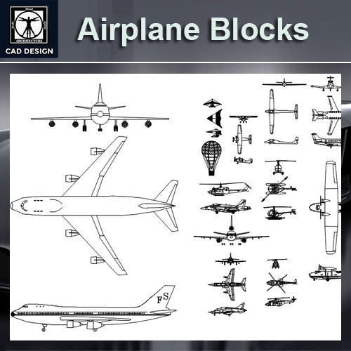 Free Airplane Blocks – CAD Design | Free CAD Blocks,Drawings