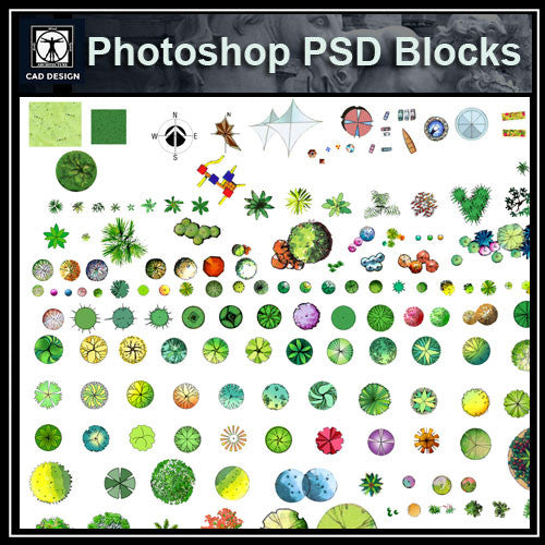 Photoshop PSD Landscape Tree Blocks 3