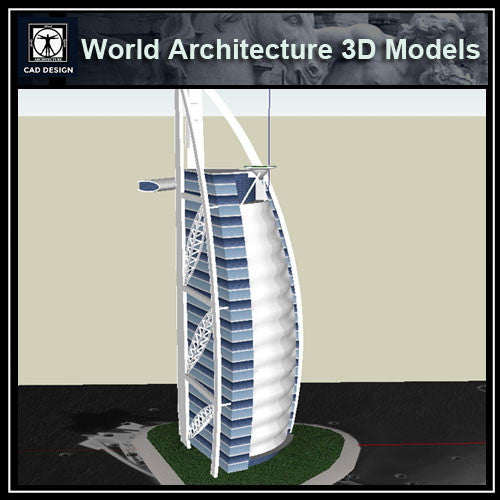 Sketchup 3D Architecture models- Sailboat 3d building dubai