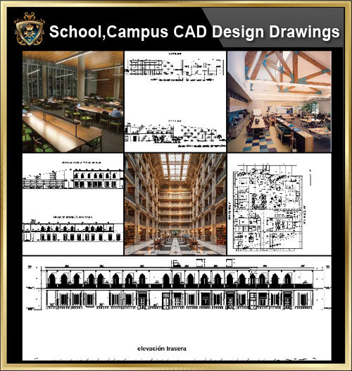 ★【School, University, College,Campus CAD Design Project V.2】@Autocad Blocks,Drawings,CAD Details,Elevation - CAD Design | Download CAD Drawings | AutoCAD Blocks | AutoCAD Symbols | CAD Drawings | Architecture Details│Landscape Details | See more about AutoCAD, Cad Drawing and Architecture Details