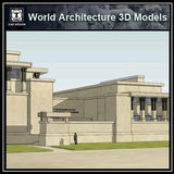 Sketchup 3D Architecture models-Unity temple of architect Frank lloyd wright - CAD Design | Download CAD Drawings | AutoCAD Blocks | AutoCAD Symbols | CAD Drawings | Architecture Details│Landscape Details | See more about AutoCAD, Cad Drawing and Architecture Details