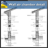 Wall air chamber detail - CAD Design | Download CAD Drawings | AutoCAD Blocks | AutoCAD Symbols | CAD Drawings | Architecture Details│Landscape Details | See more about AutoCAD, Cad Drawing and Architecture Details