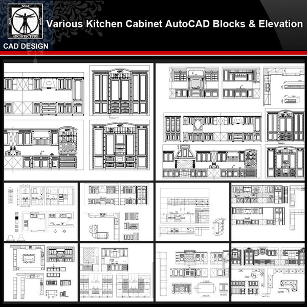 ★【Various Kitchen Cabinet Autocad Blocks & elevation V.2】All kinds of Kitchen Cabinet CAD drawings Bundle - CAD Design | Download CAD Drawings | AutoCAD Blocks | AutoCAD Symbols | CAD Drawings | Architecture Details│Landscape Details | See more about AutoCAD, Cad Drawing and Architecture Details