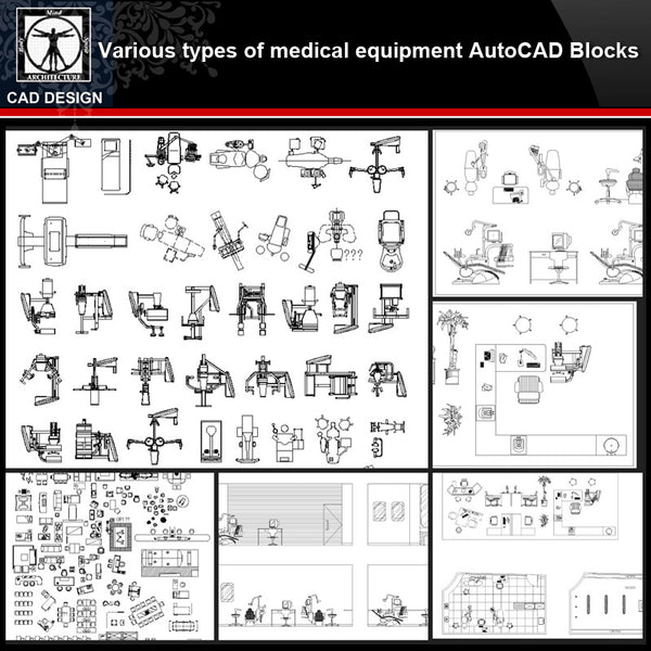 ★【Various types of medical instruments Autocad Blocks】All kinds of medical instruments CAD blocks Bundle - CAD Design | Download CAD Drawings | AutoCAD Blocks | AutoCAD Symbols | CAD Drawings | Architecture Details│Landscape Details | See more about AutoCAD, Cad Drawing and Architecture Details