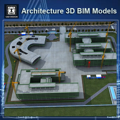 Construction Site - BIM 3D Models - CAD Design | Download CAD Drawings | AutoCAD Blocks | AutoCAD Symbols | CAD Drawings | Architecture Details│Landscape Details | See more about AutoCAD, Cad Drawing and Architecture Details