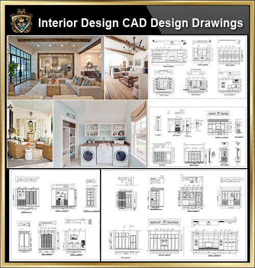 ★【Interior Design CAD Design,Details,Elevation Collection】Residential Building,Living room,Bedroom,Restroom,Decoration@Autocad Blocks,Drawings,CAD Details,Elevation - CAD Design | Download CAD Drawings | AutoCAD Blocks | AutoCAD Symbols | CAD Drawings | Architecture Details│Landscape Details | See more about AutoCAD, Cad Drawing and Architecture Details