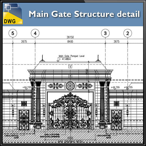 Main Gate Structure Details