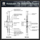 Free CAD Details-Holdown Tie Between Floors - CAD Design | Download CAD Drawings | AutoCAD Blocks | AutoCAD Symbols | CAD Drawings | Architecture Details│Landscape Details | See more about AutoCAD, Cad Drawing and Architecture Details