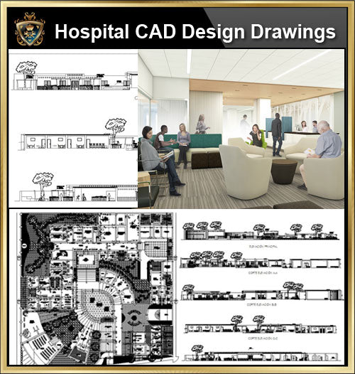 ★【Hospital design,Treatment room CAD Design Drawings V.1】@Medical equipment, ward equipment-Autocad Blocks,Drawings,CAD Details,Elevation