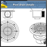 Free Pool drain detail autocad files - CAD Design | Download CAD Drawings | AutoCAD Blocks | AutoCAD Symbols | CAD Drawings | Architecture Details│Landscape Details | See more about AutoCAD, Cad Drawing and Architecture Details