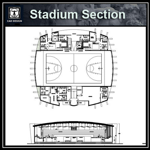 Stadium Section - CAD Design | Download CAD Drawings | AutoCAD Blocks | AutoCAD Symbols | CAD Drawings | Architecture Details│Landscape Details | See more about AutoCAD, Cad Drawing and Architecture Details