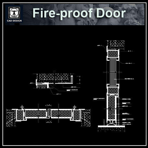 Free Fire Proof Door Details - CAD Design | Download CAD Drawings | AutoCAD Blocks | AutoCAD Symbols | CAD Drawings | Architecture Details│Landscape Details | See more about AutoCAD, Cad Drawing and Architecture Details