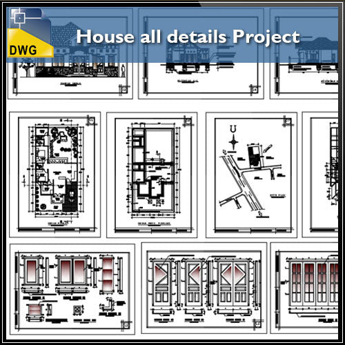 House All Detail Project - CAD Design | Download CAD Drawings | AutoCAD Blocks | AutoCAD Symbols | CAD Drawings | Architecture Details│Landscape Details | See more about AutoCAD, Cad Drawing and Architecture Details