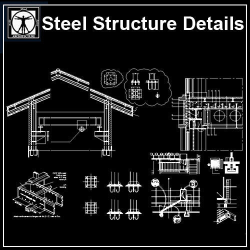 Steel Structure Details V3 - CAD Design | Download CAD Drawings | AutoCAD Blocks | AutoCAD Symbols | CAD Drawings | Architecture Details│Landscape Details | See more about AutoCAD, Cad Drawing and Architecture Details