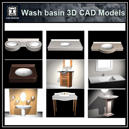 Wash basin 3D Cad Models