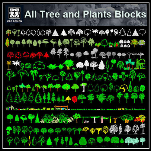 All Tree and Plants Blocks - CAD Design | Download CAD Drawings | AutoCAD Blocks | AutoCAD Symbols | CAD Drawings | Architecture Details│Landscape Details | See more about AutoCAD, Cad Drawing and Architecture Details